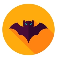 Scary Bat Circle Icon vector
