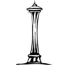 Seattle Space Needle vector image