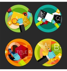 Set of option presentation labels flat design web vector image