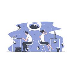 smart office workers vector image