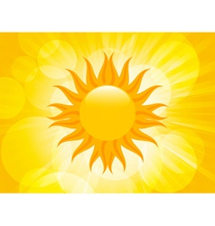 summer sunset sun vector image