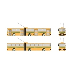 Trolleybus number one vector image