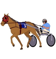 Trotter in harness vector