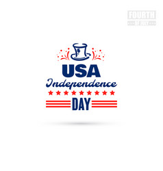 usa independence day vector image