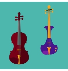 Violin set vector image