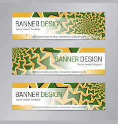 web header design green yellow banner template vector image