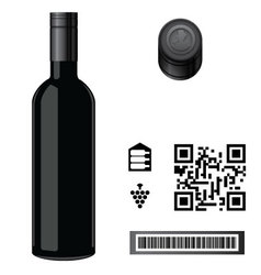 Wine Bottle Template vector image