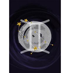 Zodiac gemini sign a4 print poster vector
