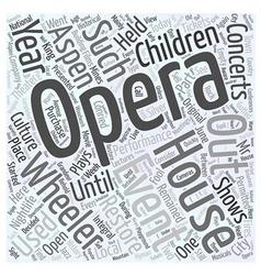 aspen nightlife the wheeler opera house Word Cloud vector image vector image