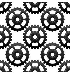 Gear wheels or cogwheels seamless pattern vector image vector image