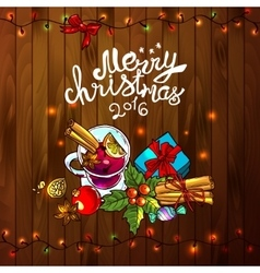 merry christmas 2016 vector image