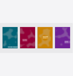 Minimal covers design cool halftone vector