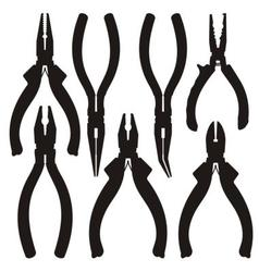 pliers icons vector image vector image