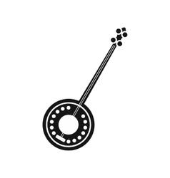 Banjo icon in simple style vector image vector image