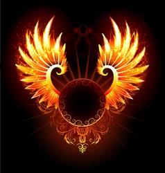 Banner with wings phoenix vector
