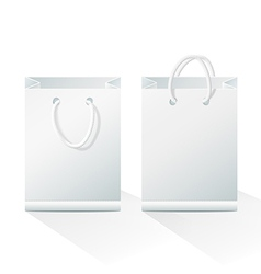 Blank Shopping Paper Bags vector image