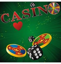 casino green strip vector image