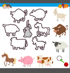 educational game of shapes vector image
