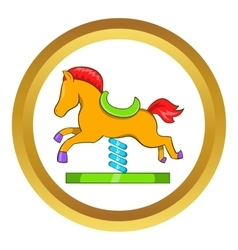 Horse spring see saw icon vector image vector image