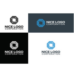 logo technology and telecommunication vector image vector image
