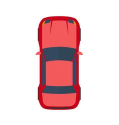 modern flat red car vector image