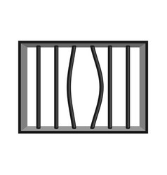 prison grill isolated window in prison with bars vector image