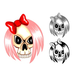 skull emo vector image vector image