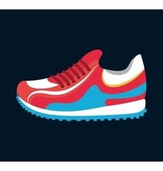 sneaker sport running icon black background vector image