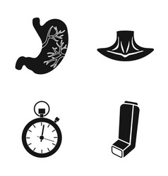 stomach neck and other web icon in black style vector image vector image