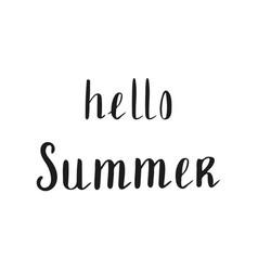 summer quote brush pen handwritten lettering vector image vector image
