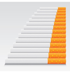 Cigarettes in line vector image vector image