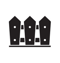 garden fence icon vector image