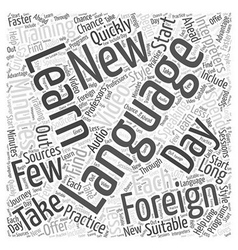 Interpreters in Foreign Language Training Word vector image vector image