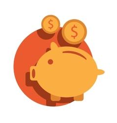Piggy bank icon Piggy bank icon vector image