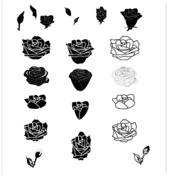 Rose icon vector image