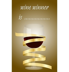 Best wine wine winner competition vector image
