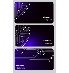 Busitess card templates with Circuit board vector image