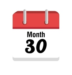 Calendar with day and month icon vector image
