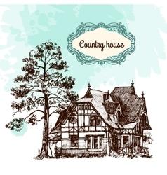 house sketch vector image vector image