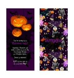 Invitation for kids Halloween party vector image vector image