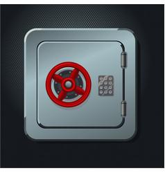 metal safe box with digital lock realictic vector image