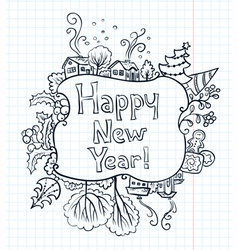 New Year doodle vector image vector image