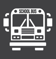 school bus solid icon transport and vehicle vector image