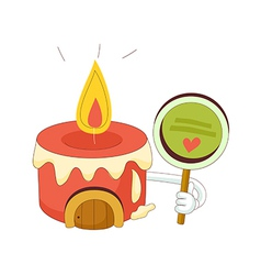 A view of candle vector image