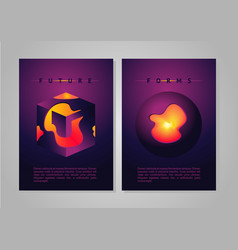Abstract poster future forms cover vector