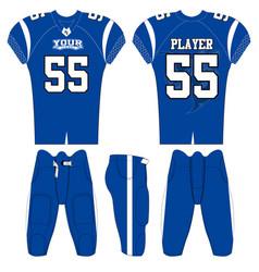 American football team jersey design mockup vector