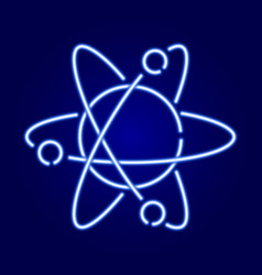Atom icon with orbits the nucleus and electrons vector