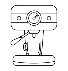 Bar coffee machine icon outline style vector