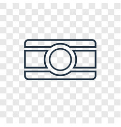 bindi concept linear icon isolated on transparent vector image