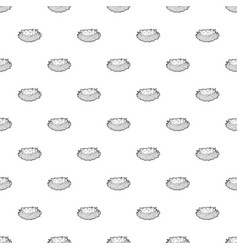 bird nest with eggs pattern seamless vector image